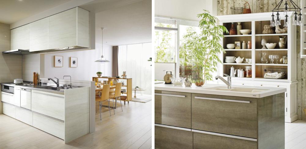 4 選べるキッチン I型キッチン+カップボードorフラット対面キッチン