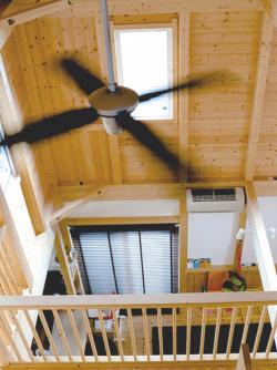 シーリングファン ceilingfan 吹き抜け 注文住宅 大工産 木の家 自然素材 加古川 工務店